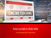 Education & Training: Online Teaching PowerPoint Template #15186
