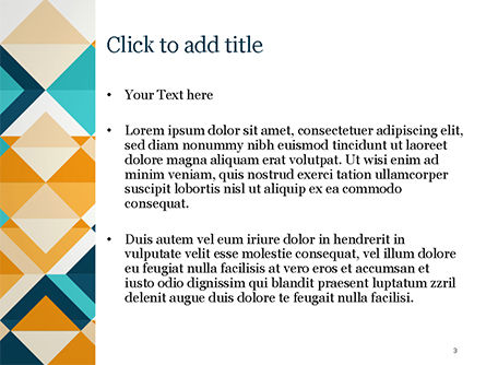 Triangle Pattern Design Background PowerPoint Template, Slide 3, 15187, Abstract/Textures — PoweredTemplate.com