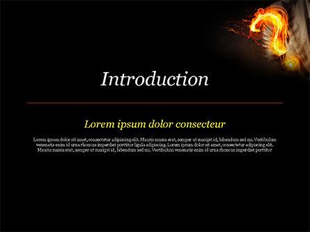 Flaming Question Mark PowerPoint Template, Slide 3, 15188, Business Concepts — PoweredTemplate.com