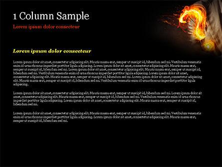 Flaming Question Mark PowerPoint Template, Slide 4, 15188, Business Concepts — PoweredTemplate.com
