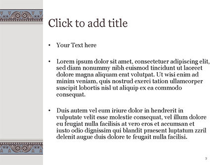 Classic Styled Frame PowerPoint Template, Slide 3, 15190, Abstract/Textures — PoweredTemplate.com