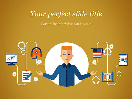 Self Education PowerPoint Template, 15191, Education & Training — PoweredTemplate.com