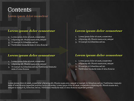 A Hand Drawing Shortcut to Maze on Chalkboard PowerPoint Template, Slide 2, 15194, Business Concepts — PoweredTemplate.com
