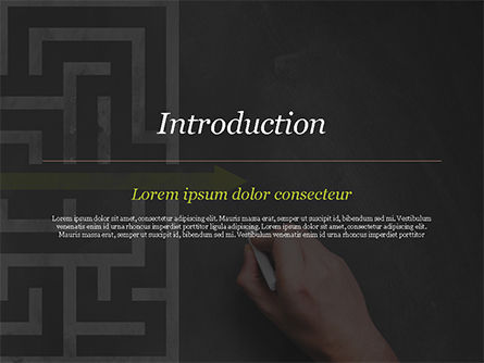 A Hand Drawing Shortcut to Maze on Chalkboard PowerPoint Template, Slide 3, 15194, Business Concepts — PoweredTemplate.com