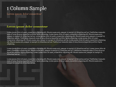 A Hand Drawing Shortcut to Maze on Chalkboard PowerPoint Template, Slide 4, 15194, Business Concepts — PoweredTemplate.com