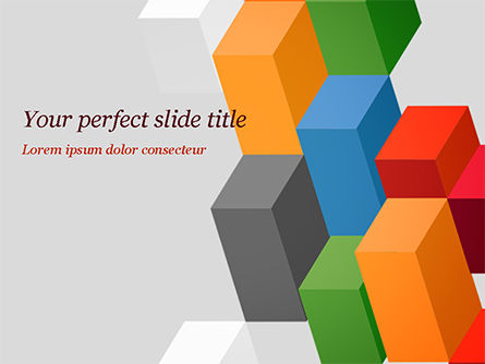 Abstract Colorful Columns PowerPoint Template, 15196, Abstract/Textures — PoweredTemplate.com