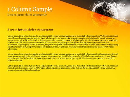 Dark Digital Globe PowerPoint Template, Slide 4, 15197, Technology and Science — PoweredTemplate.com