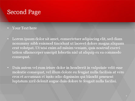 Red Stripe on Gray Background PowerPoint Template, Slide 2, 15200, Abstract/Textures — PoweredTemplate.com