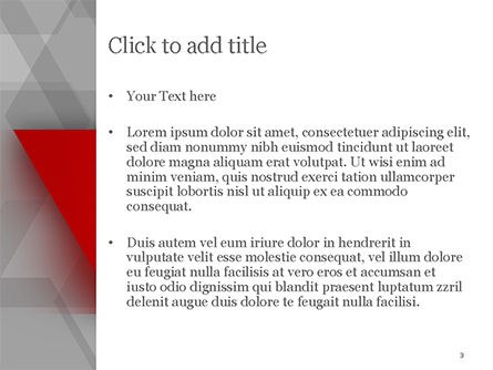 Red Stripe on Gray Background PowerPoint Template, Slide 3, 15200, Abstract/Textures — PoweredTemplate.com