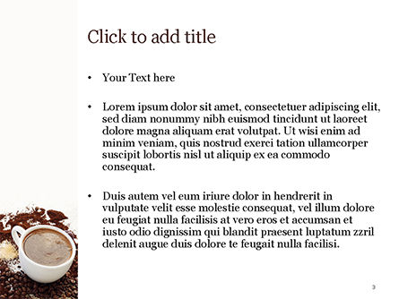 Coffee Cup and Coffee Beans PowerPoint Template, Slide 3, 15204, Food & Beverage — PoweredTemplate.com