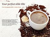 Food & Beverage: Modèle PowerPoint de tasse à café et grains de café #15204