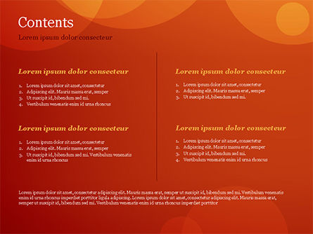 Orange Background with Transparent Circles PowerPoint Template, Slide 2, 15206, Abstract/Textures — PoweredTemplate.com
