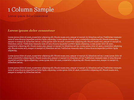 Orange Background with Transparent Circles PowerPoint Template, Slide 4, 15206, Abstract/Textures — PoweredTemplate.com