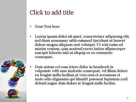 Disease Question PowerPoint Template, Slide 3, 15207, Medical — PoweredTemplate.com