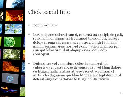 Curved Corridor with Screens PowerPoint Template, Slide 3, 15208, Art & Entertainment — PoweredTemplate.com