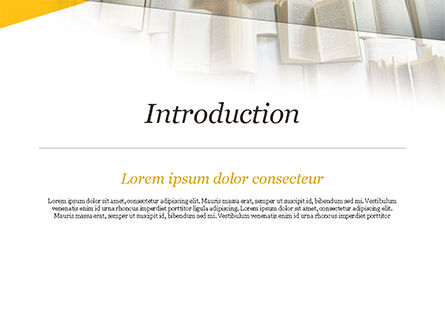 Open Books Piled up PowerPoint Template, Slide 3, 15209, Education & Training — PoweredTemplate.com