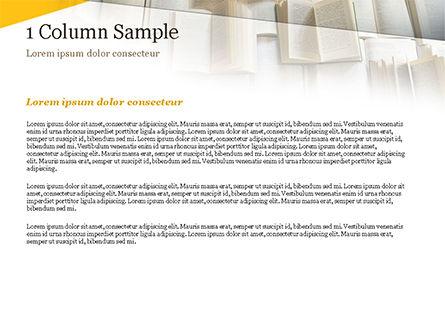 Open Books Piled up PowerPoint Template, Slide 4, 15209, Education & Training — PoweredTemplate.com