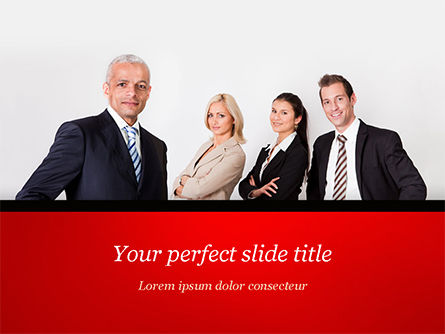 People: Business-team PowerPoint Vorlage #15212