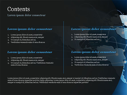 Global Network Connection PowerPoint Template, Slide 2, 15213, Technology and Science — PoweredTemplate.com