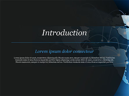Global Network Connection PowerPoint Template, Slide 3, 15213, Technology and Science — PoweredTemplate.com