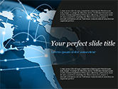 Technology and Science: Global Network Connection PowerPoint Template #15213