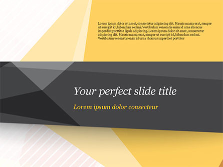 Abstract Grey Line with Triangles PowerPoint Template, 15214, Abstract/Textures — PoweredTemplate.com