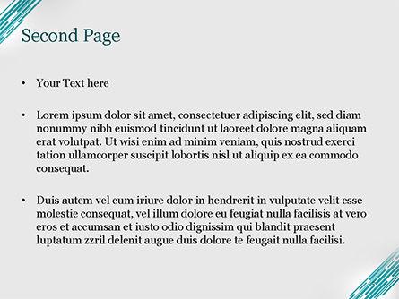 Azure Rectangles Abstract PowerPoint Template, Slide 2, 15216, Abstract/Textures — PoweredTemplate.com