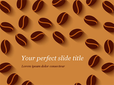 Coffee Beans Illustration PowerPoint Template, 15218, Food & Beverage — PoweredTemplate.com