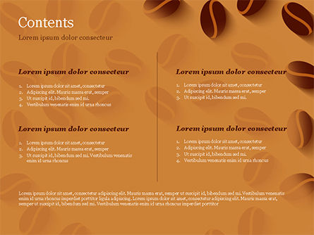 Coffee Beans Illustration PowerPoint Template, Slide 2, 15218, Food & Beverage — PoweredTemplate.com