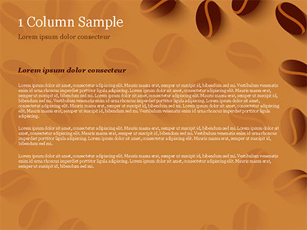 Coffee Beans Illustration PowerPoint Template, Slide 4, 15218, Food & Beverage — PoweredTemplate.com