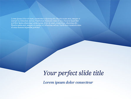 Abstract/Textures: Triangular Polygon Style PowerPoint Template #15219