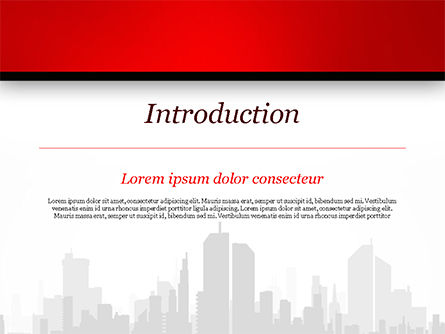 Silhouette of the City in Gray Shades PowerPoint Template, Slide 3, 15220, Construction — PoweredTemplate.com