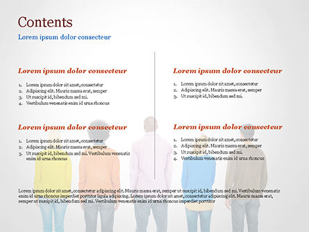 Rear View of Multi-Ethnic Group of People PowerPoint Template, Slide 2, 15221, People — PoweredTemplate.com