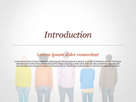 Rear View of Multi-Ethnic Group of People PowerPoint Template, Slide 3, 15221, People — PoweredTemplate.com
