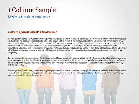 Rear View of Multi-Ethnic Group of People PowerPoint Template, Slide 4, 15221, People — PoweredTemplate.com