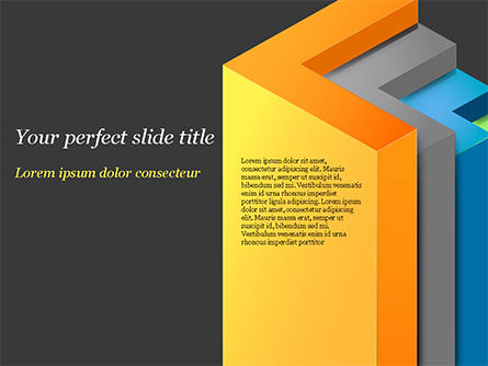 Abstract/Textures: 3D Arrows PowerPoint Template #15222