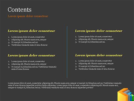 3D Arrows PowerPoint Template, Slide 2, 15222, Abstract/Textures — PoweredTemplate.com