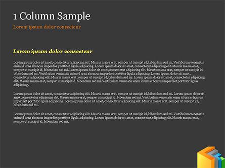 3D Arrows PowerPoint Template, Slide 4, 15222, Abstract/Textures — PoweredTemplate.com
