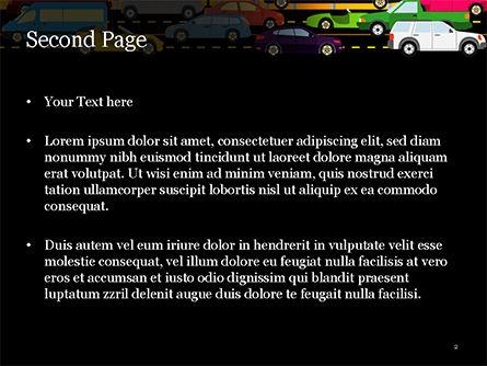 Road Traffic Illustration PowerPoint Template, Slide 2, 15225, Cars and Transportation — PoweredTemplate.com