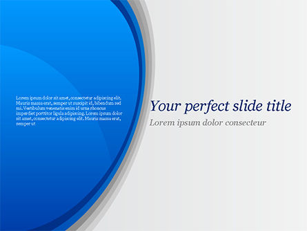 Abstract/Textures: Abstract Blue Semicircle PowerPoint Template #15226