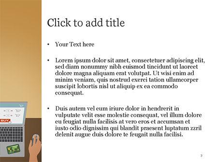 Online Shopping Illustration PowerPoint Template, Slide 3, 15227, Business Concepts — PoweredTemplate.com