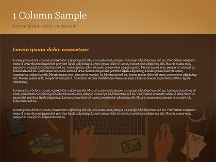 Online Shopping Illustration PowerPoint Template, Slide 4, 15227, Business Concepts — PoweredTemplate.com