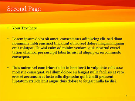 Bright Orange Background PowerPoint Template, Slide 2, 15229, Abstract/Textures — PoweredTemplate.com