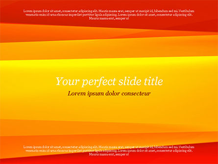 Bright Orange Background PowerPoint Template, 15229, Abstract/Textures — PoweredTemplate.com