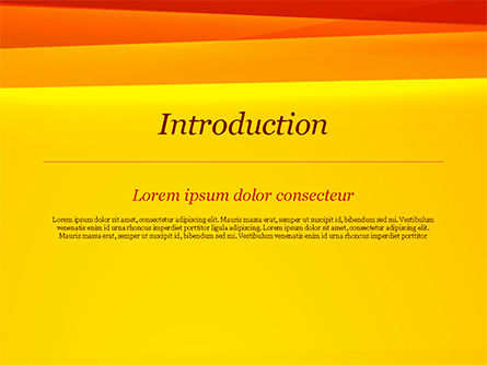 Bright Orange Background PowerPoint Template, Slide 3, 15229, Abstract/Textures — PoweredTemplate.com