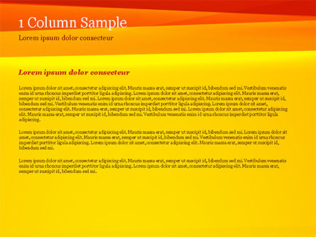 Bright Orange Background PowerPoint Template, Slide 4, 15229, Abstract/Textures — PoweredTemplate.com