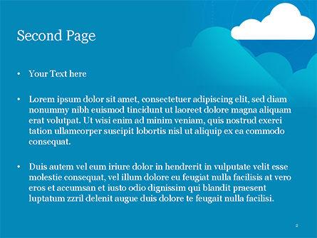 Paper Clouds PowerPoint Template, Slide 2, 15230, Nature & Environment — PoweredTemplate.com