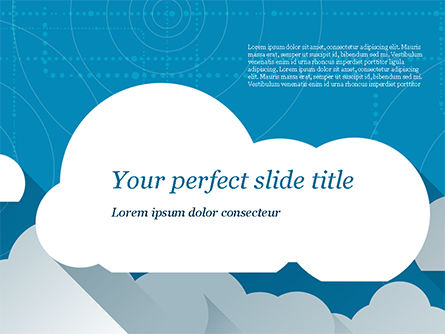 Paper Clouds PowerPoint Template, 15230, Nature & Environment — PoweredTemplate.com