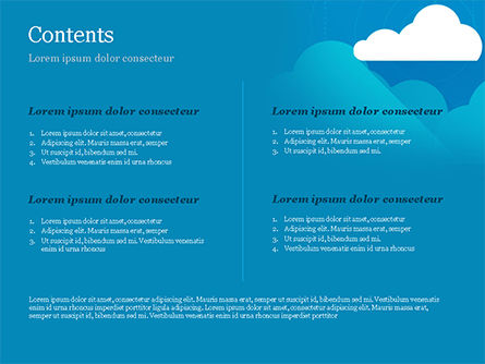 Paper Clouds PowerPoint Template, Slide 2, 15230, Nature & Environment — PoweredTemplate.com