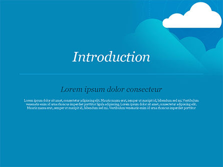 Paper Clouds PowerPoint Template, Slide 3, 15230, Nature & Environment — PoweredTemplate.com